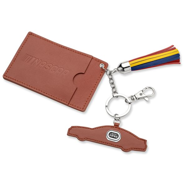 NASCAR Leather Card Holder and Key Ring