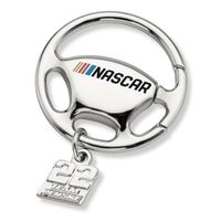 Joey Logano Steering Wheel Key Ring with #22 Charm