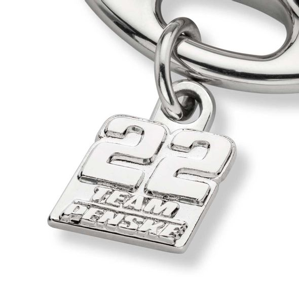 Joey Logano Steering Wheel Key Ring with #22 Charm - Image 2