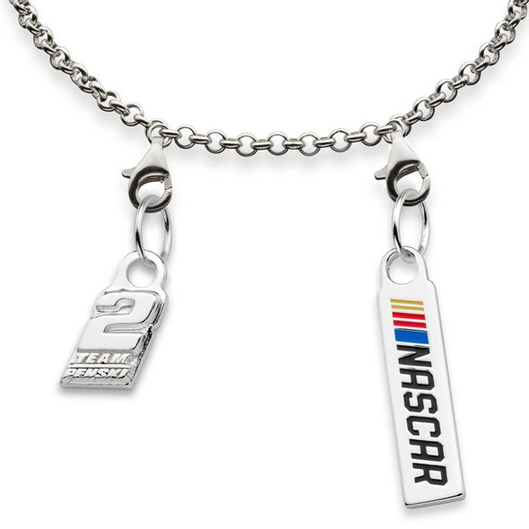 Brad Keselowski #2 Sterling Silver Anklet with Two Charms - Image 2