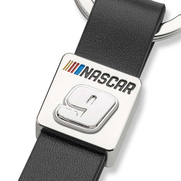 Chase Elliott #9 Leather Strap Key Ring - Image 2
