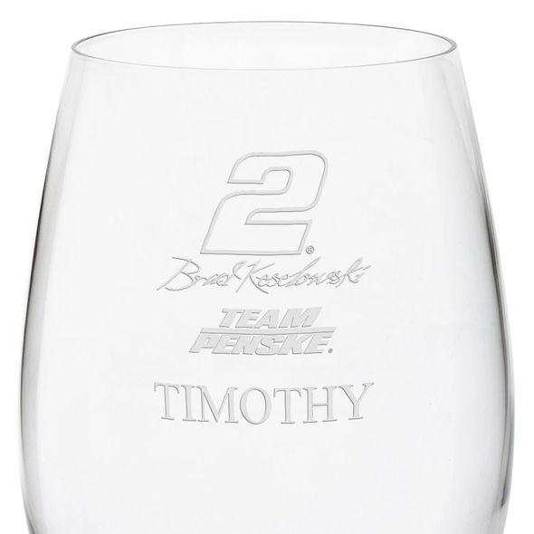 Brad Keselowski Red Wine Glass - Image 3
