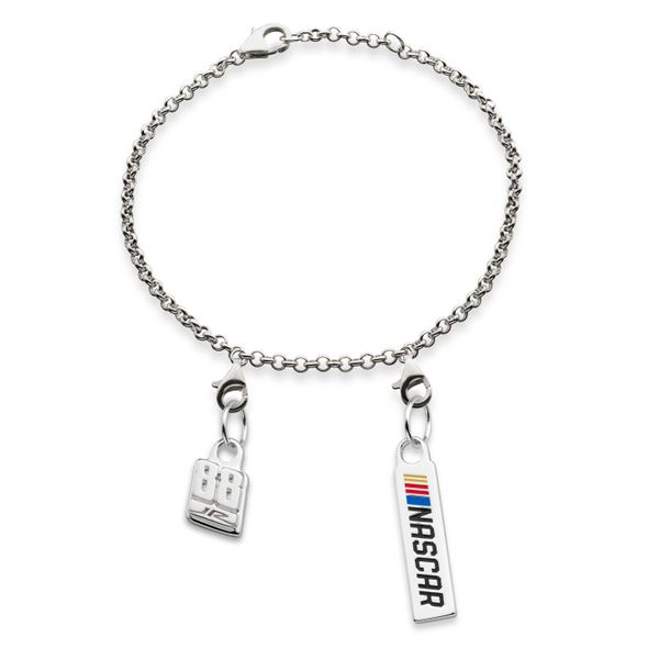 Dale Earnhardt Jr. #88 Sterling Silver Anklet with Two Charms