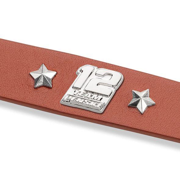 Ryan Blaney Leather Bracelet with #12 Rivet - Image 2