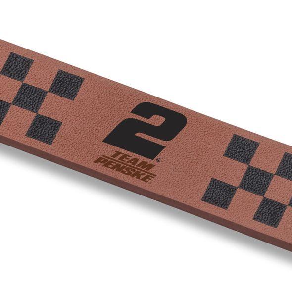 Brad Keselowski Leather Cuff Bracelet with #2 - Image 2