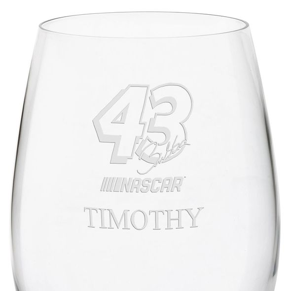 Bubba Wallace Red Wine Glass - Image 3