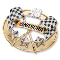 Alex Bowman Brooch Pin with #48