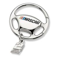 Brad Keselowski Steering Wheel Key Ring with #2 Charm
