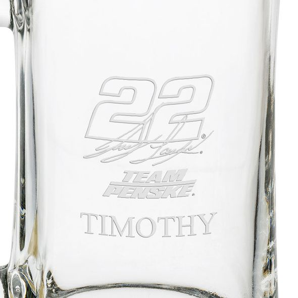 Joey Logano 25 oz Beer Mug - Image 3