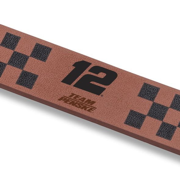 Ryan Blaney Leather Cuff Bracelet with #12 - Image 2