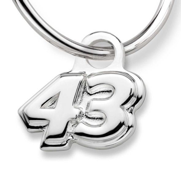 Bubba Wallace Sterling Silver Hoop Earrings with #43 Charm - Image 2