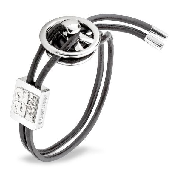Joey Logano #22 Leather Cord Bracelet with Steering Wheel