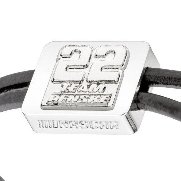 Joey Logano #22 Leather Cord Bracelet with Steering Wheel - Image 2