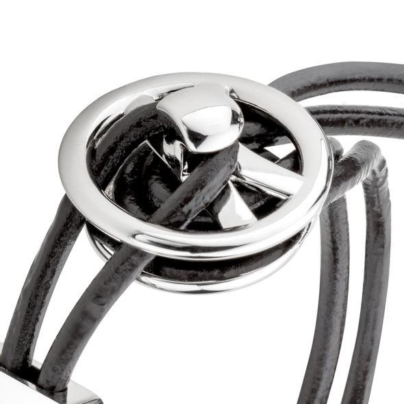 Joey Logano #22 Leather Cord Bracelet with Steering Wheel - Image 3