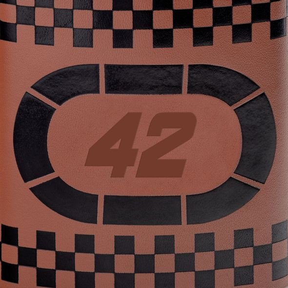 Kyle Larson Retro Leather Flask - Image 2