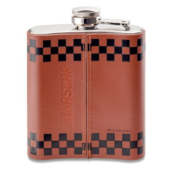 Kyle Larson Retro Leather Flask - Image 3