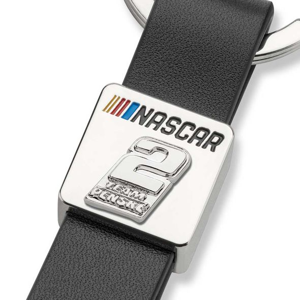 Brad Keselowski #2 Leather Strap Key Ring - Image 2