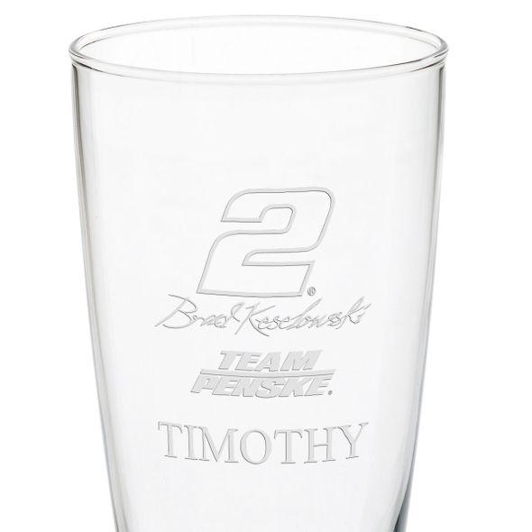 Brad Keselowski 20 oz Pilsner Glass - Image 3