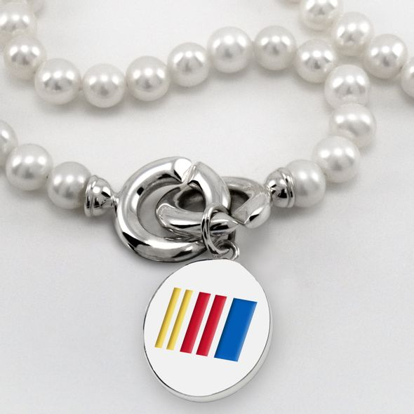 NASCAR Pearl Necklace and Sterling Silver Charm with Enamel - Image 2