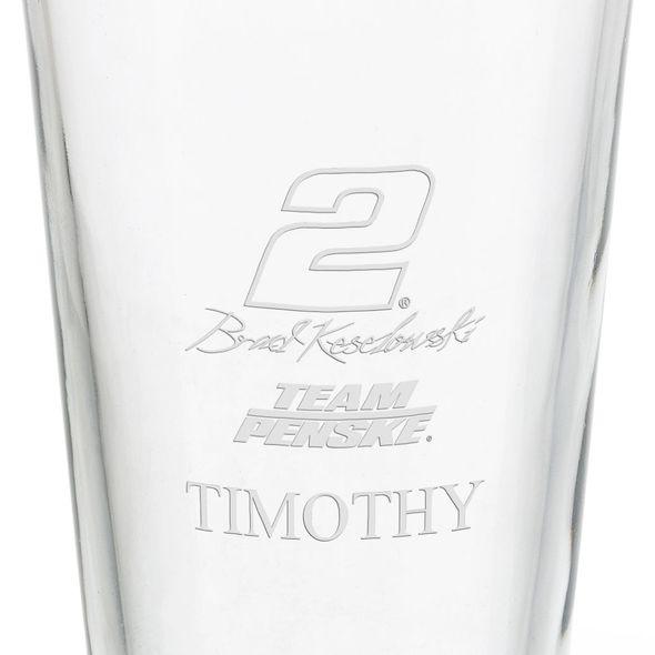 Brad Keselowski Pint Glass - Image 3