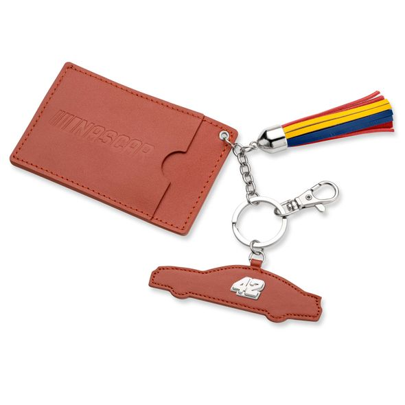 Kyle Larson Leather Card Holder and Key Ring - Image 1
