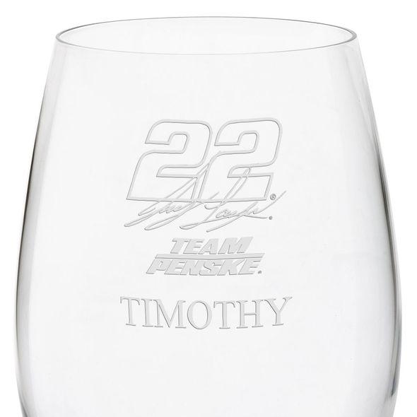 Joey Logano Red Wine Glass - Image 3