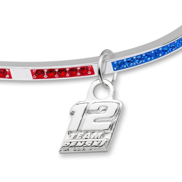 Ryan Blaney Sterling Silver Bangle with #12 Charm - Image 2