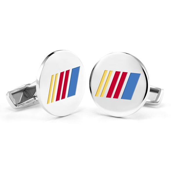 NASCAR Cufflinks in Sterling Silver with Enamel