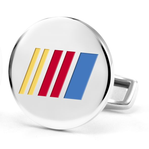 NASCAR Cufflinks in Sterling Silver with Enamel - Image 2