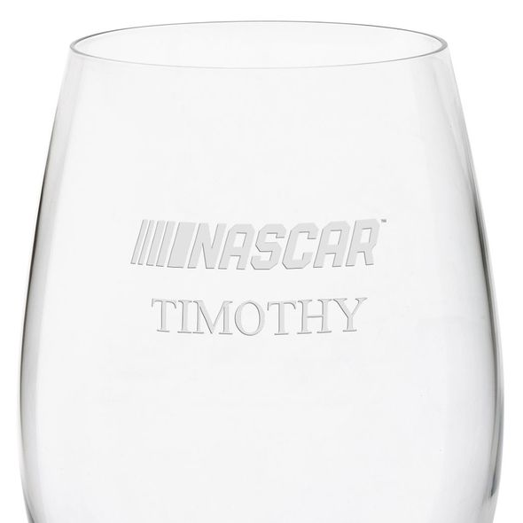 NASCAR Red Wine Glass - Image 3