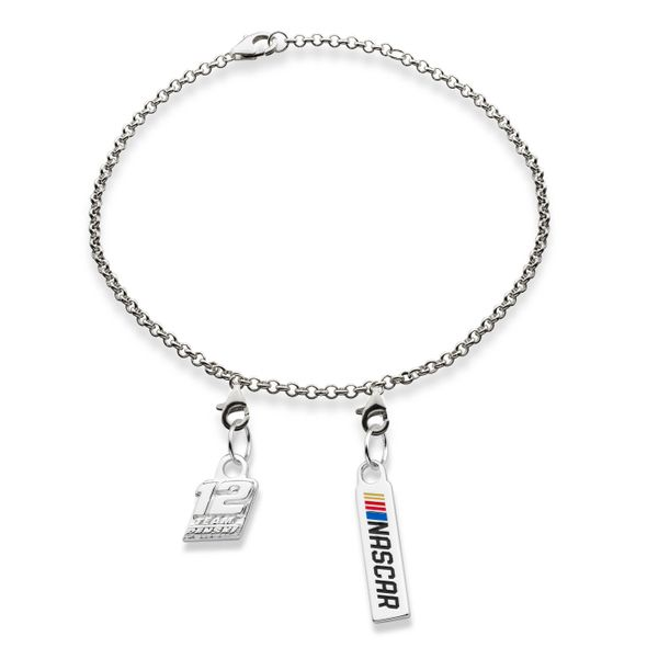 Ryan Blaney #12 Sterling Silver Bracelet with Two Charms