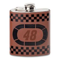 Jimmie Johnson Retro Leather Flask