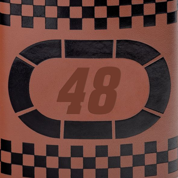 Jimmie Johnson Retro Leather Flask - Image 2