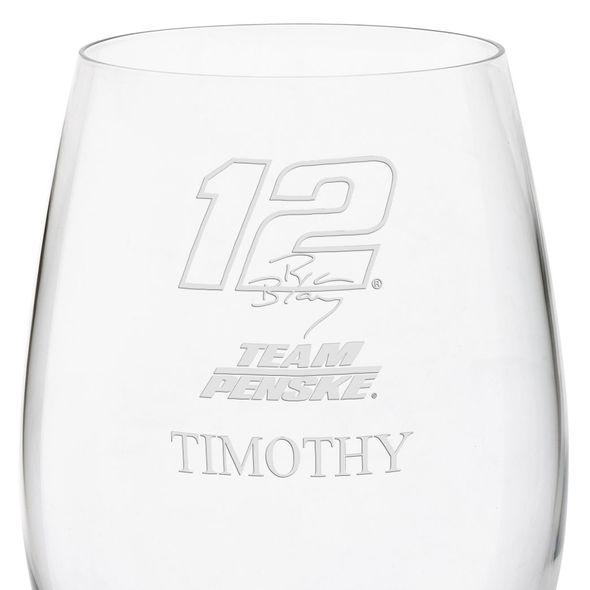 Ryan Blaney Red Wine Glass - Image 3