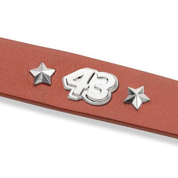 Bubba Wallace Leather Bracelet with #43 Rivet - Image 2
