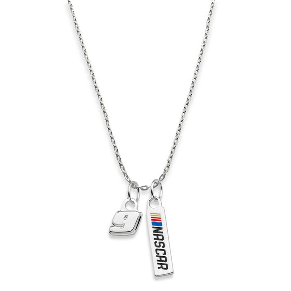 Chase Elliott #9 Sterling Silver Necklace with Two Charms