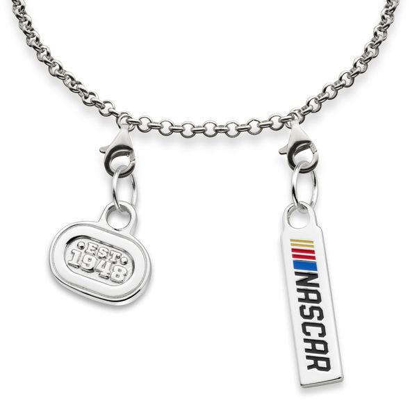 NASCAR Sterling Silver Anklet with Two Charms - Image 2