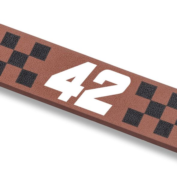 Kyle Larson Leather Cuff Bracelet with #42 - Image 2