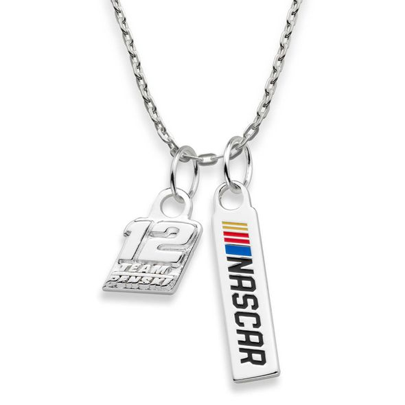 Ryan Blaney #12 Sterling Silver Necklace with Two Charms - Image 2