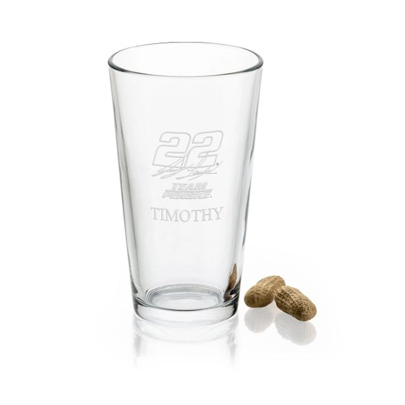 Joey Logano Pint Glass