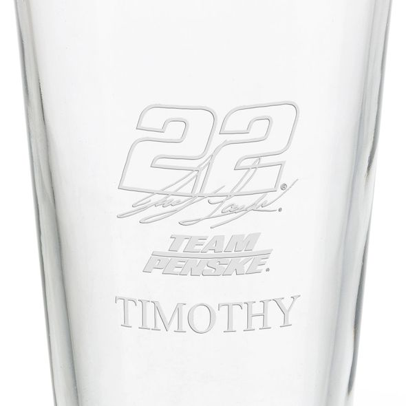 Joey Logano Pint Glass - Image 3