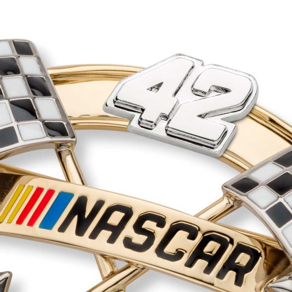 Kyle Larson Brooch Pin with #42 - Image 2