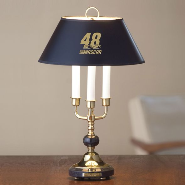 Jimmie Johnson Lamp in Brass & Marble