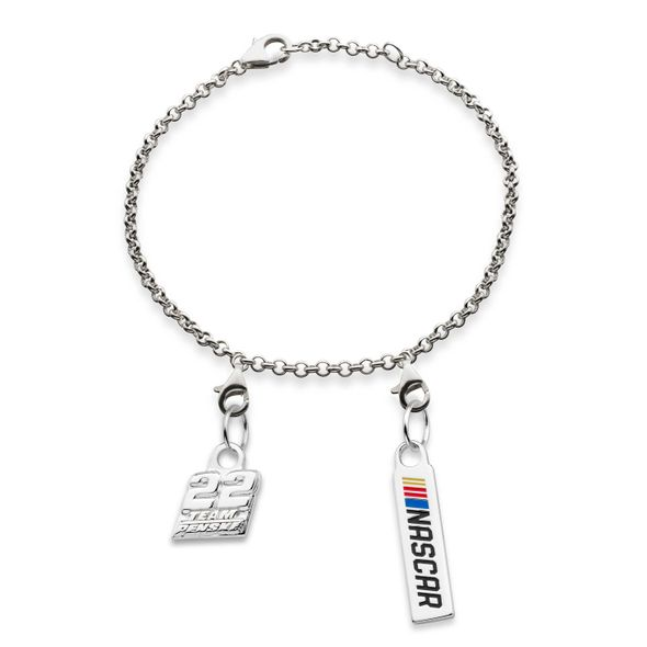 Joey Logano #22 Sterling Silver Anklet with Two Charms
