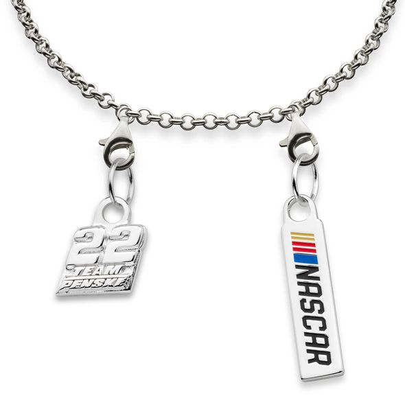 Joey Logano #22 Sterling Silver Anklet with Two Charms - Image 2