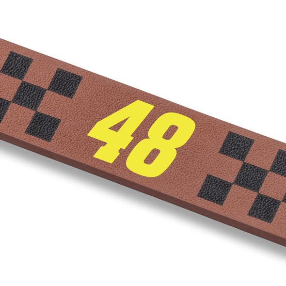 Jimmie Johnson Leather Cuff Bracelet with #48 - Image 2