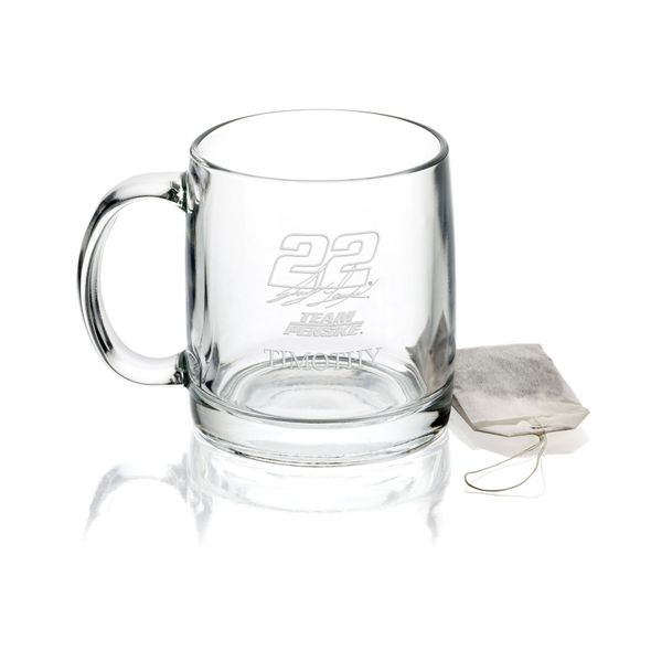 Joey Logano Glass Coffee Mug