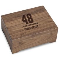 Alex Bowman Solid Walnut Collector's Box
