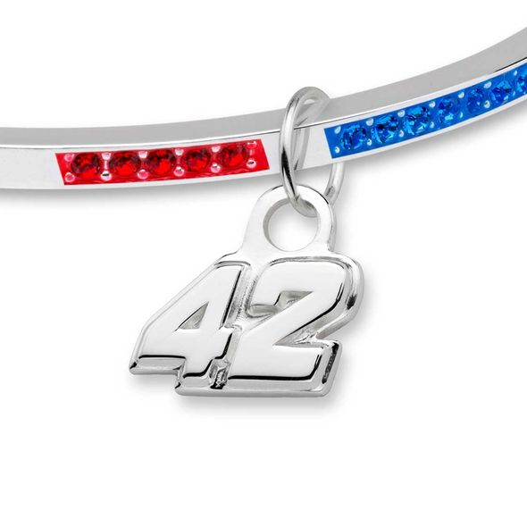 Kyle Larson Sterling Silver Bangle with #42 Charm - Image 2