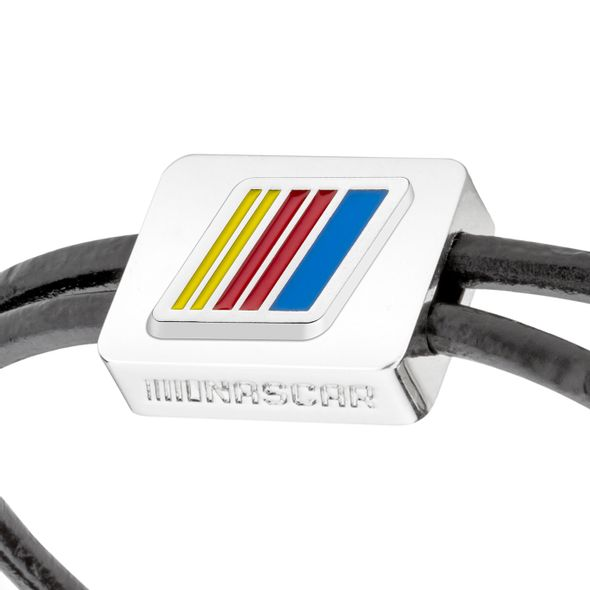 NASCAR Leather Cord Bracelet with Steering Wheel - Image 2